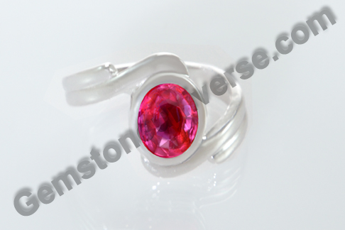 Natural Ruby of 1.34 Carats Gemstoneuniverse.com
