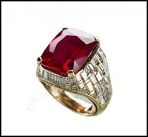 Burmese Ruby Bvlgari Ring