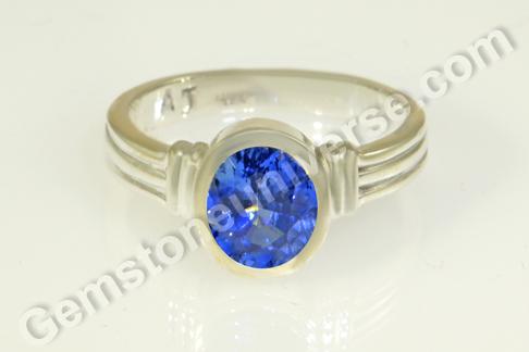 Natural Blue Sapphire of 1.81 carats Gemstoneuniverse