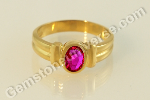 Natural Ruby of 1.00 Carats Gemstoneuniverse.com