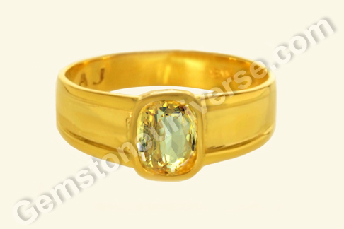 Natural Yellow Sapphire of 2.16 carats Gemstoneuniverse.com