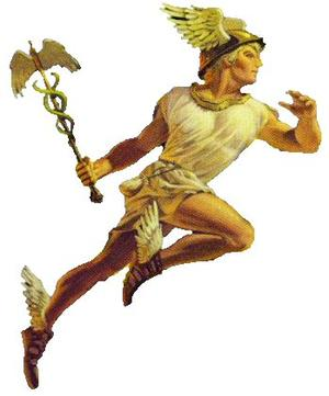 Mercury also known as Hermes