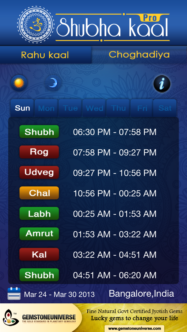 Shubha Kaap Pro-Calculate Lucky Timings on the Go